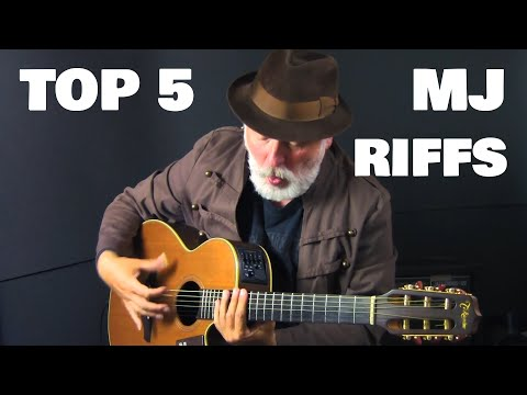 TOP 5 MICHAEL JACKSON  RIFFS OF ALL TIME! I SLAP BASS on my guitar!