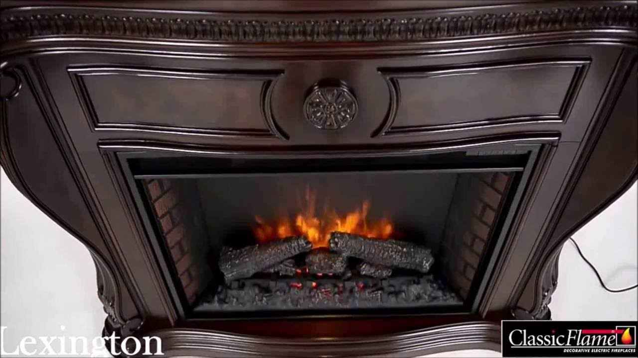 Short video with our Lexington Fireplace Suite in Empire Cherry finish - 33WM881-C232 . For more info visit our website: http://www.classicflame.co.uk