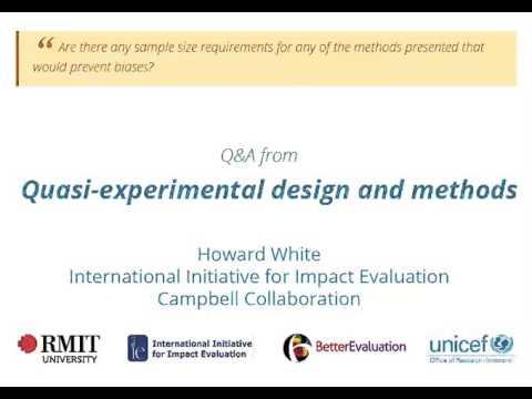 Quasi-experimental design and methods - Sample size ...