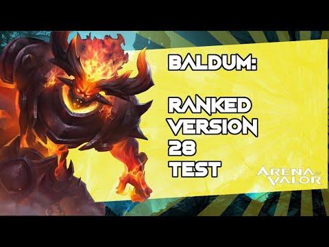*BALDUM: Ranked Version 28 Test ** - Arena of Valor / AoV / RoV / Liên Quân Mobile / 傳說對決
