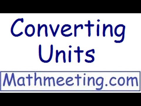 How to convert units