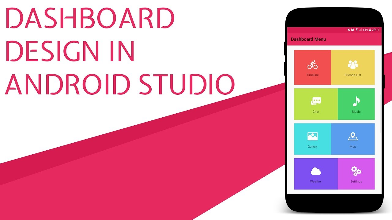 Dashboard Ui Design In Android Studio With Source Code