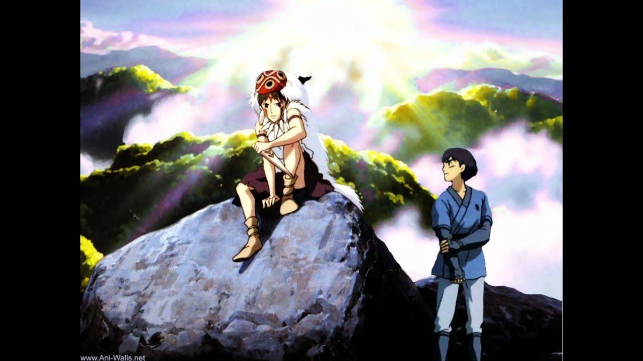 Studio Ghibli - Mononoke Hime - Ashitaka and San - YouTube