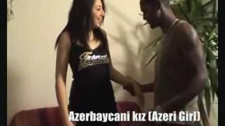 Azeri Kizi Leyla Aliyev Лейла Алиева WITH BLACK BOY