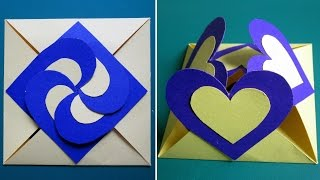 Love card sealed with hearts - learn how to make a heart-lock greeting card - EzyCraft