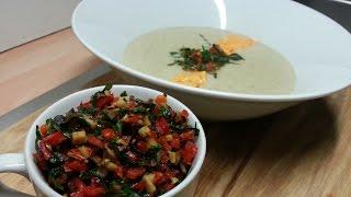 Шампиньоновый крем-суп (вегетарианская кухня)