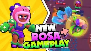 NEW BRAWLER ROSA GAMEPLAY & FULL STATS + STAR POWER BREAKDOWN IN BRAWL STARS! NEW UPDATE!