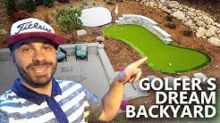 Golfer's Dream Backyard Renovation - My Home Putting Green