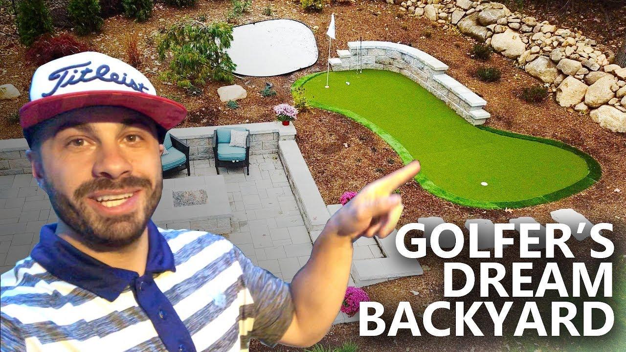 Golfer's Dream Backyard Renovation - My Home Putting Green ...