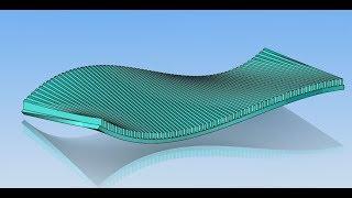 56 урок SOLIDWORKS сделать профиль на кривой поверхности и массив