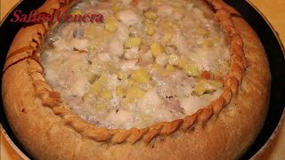 Зур Бэлиш. Большой пирог с курицей, картошкой. Татарская кухня