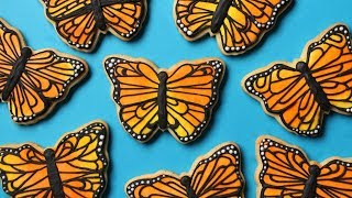 Monarch Butterfly Cookies! Collab with HANIELA