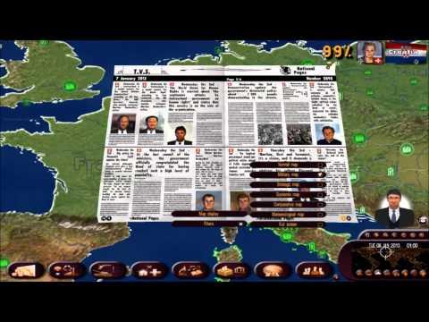 Politiksimulator 3/Rulers of the World 002   Zeitung lesen deutsch/schwäbisch