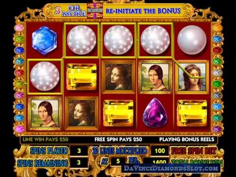 Da Vinci Diamonds Slot - Bonus Round