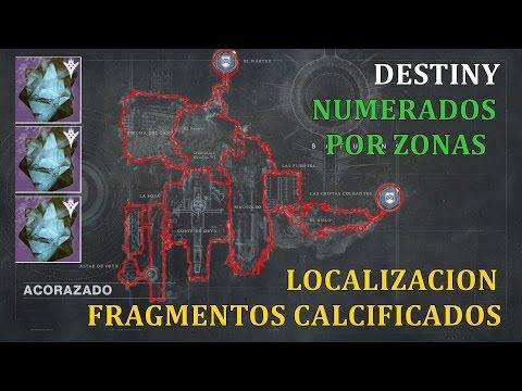 Destiny LOCALIZACION FRAGMENTOS CALCIFICADOS (47) POR ZONA Y ENUMERADOS