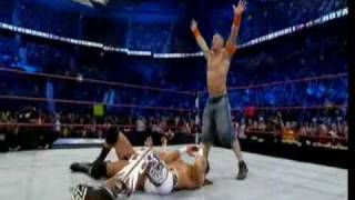 WWE Royal Rumble 2010 - John Cena dobule Five Knuckle Shuffle