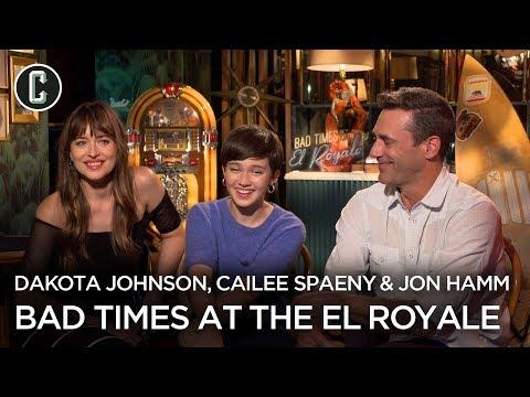 Dakota Johnson, Jon Hamm & Cailee Spaeny Talk Bad Times at the El Royale