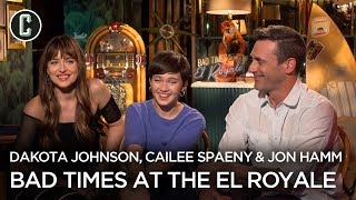 Dakota Johnson, Jon Hamm & Cailee Spaeny Talk Bad Times at the El Royale