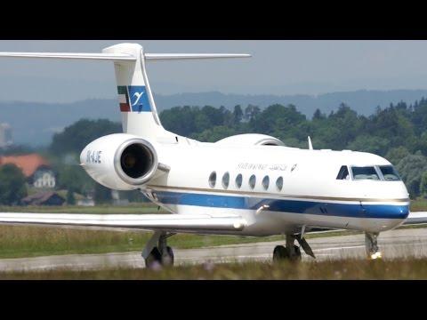 State of Kuwait Gulfstream V Take-Off at Bern Airport