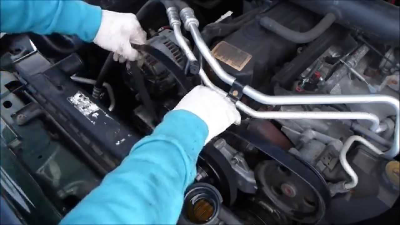 how to change a belt in a jeep wrangler [ 1280 x 720 Pixel ]