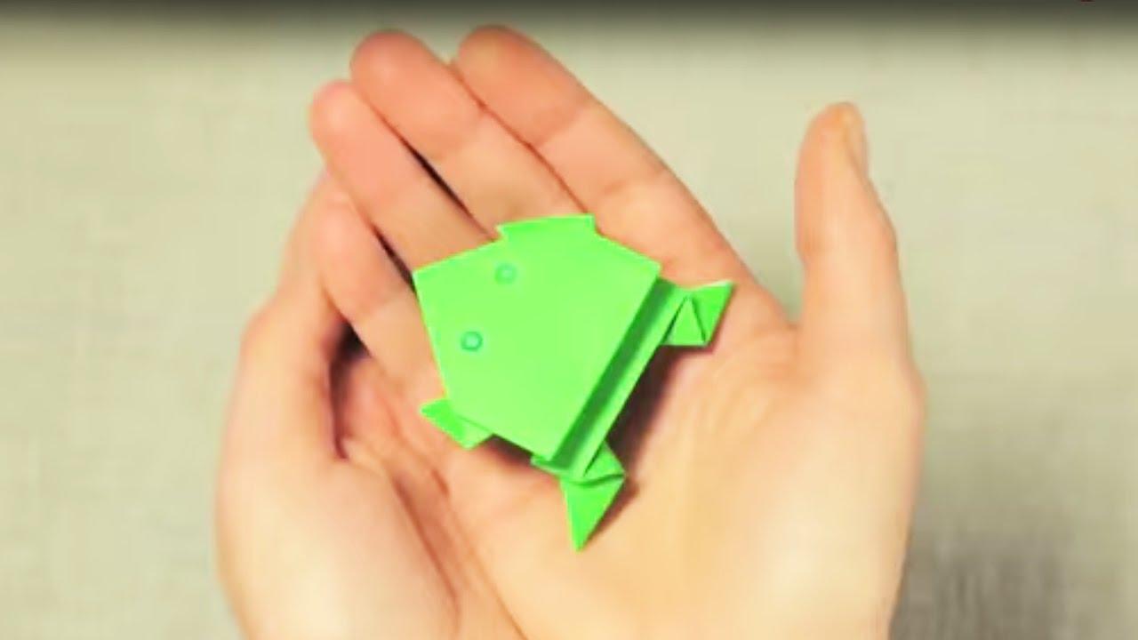 Fabriquer une grenouille en origami doovi - Comment faire une grenouille en papier ...