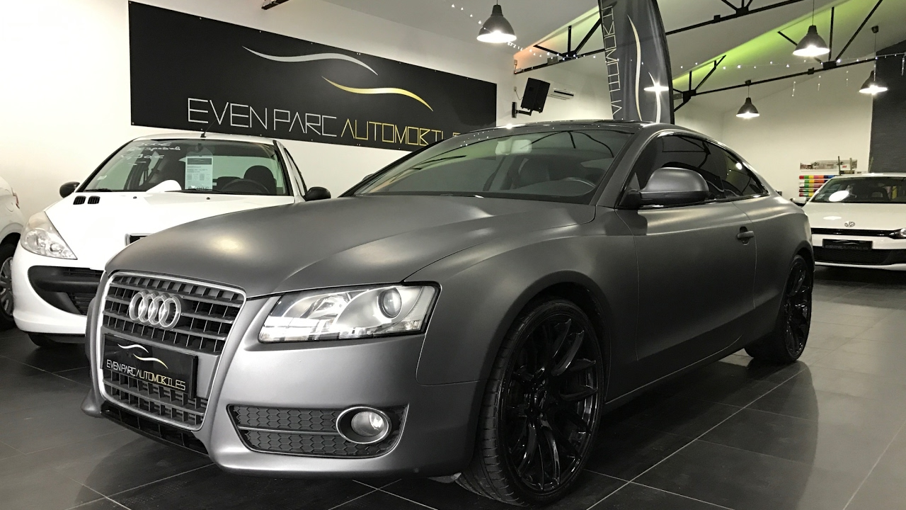 even parc automobiles preparation audi a5 covering gris mat youtube. Black Bedroom Furniture Sets. Home Design Ideas