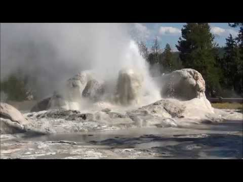Yellowstone geysers & hot springs (part 11) (HD)