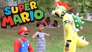 SUPER MARIO PRANK ON KIDS