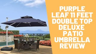 purple leaf 11 feet double top deluxe square patio umbrella review