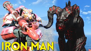 Fallout 4 IRON MAN vs GOJIRA - Gameplay Part 4