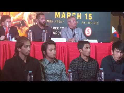 Team Lakay Fighters At Brave Combat Federation, TV5 Press Conference