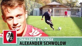 """Kann jemand Hilfe holen?!"" | Torwart-Duell - Karol vs. Alexander Schwolow | SC Freiburg | Kickbox"