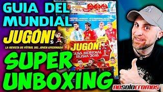 MEGA UNBOXING GUIA Revista JUGON MUNDIAL RUSIA 2018 | SACAMOS UN TOP MASTER! Apertura NO SOLO CROMOS