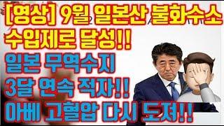 [영상] 9월 일본산 불화수소 수입제로 달성!! 일본 …