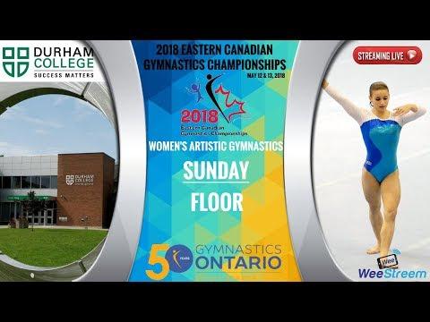 Sunday - Floor - 2018 Eastern Canadian Gymnastics Championships - W.A.G.