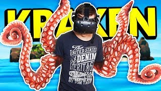 BECOME A HUGE KRAKEN IN VIRTUAL REALITY (Kraken VR Funny HTC Vive Gameplay)