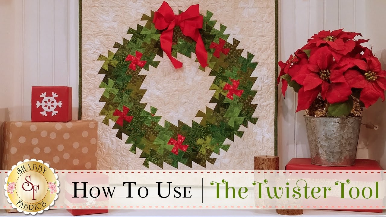 How To Use The Twister Tool A Shabby Fabrics Quilting Tutorial Youtube
