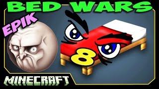 ч.08 Bed Wars Minecraft - Воздушный десант! (Эпик!)