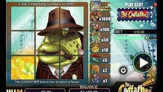Grattage en ligne de jeux THE CODFATHER 👀 à la recherche des Bonus Gagnant et Gros Gains