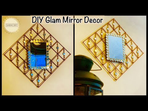 Unique Wall Decoration Idea with Mirror| gadac diy| wall hanging craft ideas| Home decorating Ideas