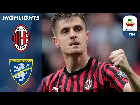 Milan 2-0 Frosinone | Milan win to bolster Champions League hopes | Serie A