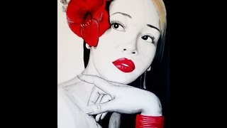 Celebrity portrait  art of Monica Brown : Prestige Design
