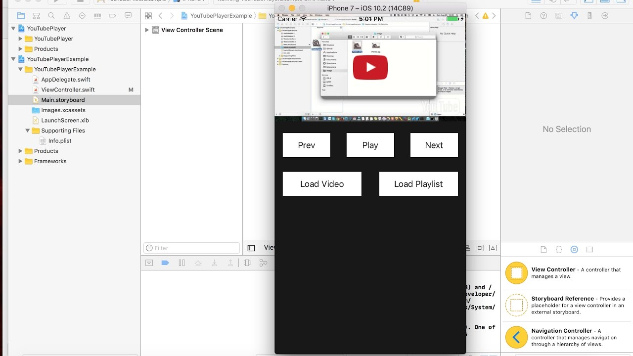 iOS - 2017: How to play youtube video from URL in custom UIView iOS - swift  code