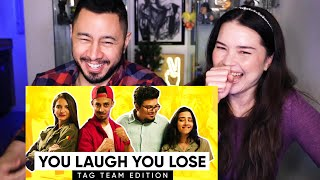 JORDINDIAN | You Laugh You Lose | Tag Team Edition | Reaction by Jaby Koay & Achara Kirk