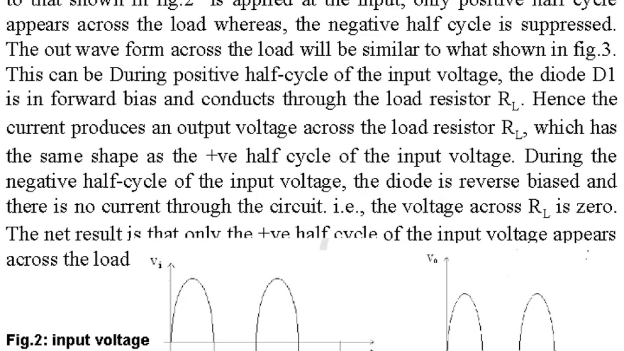 Half wave rectifier with and without filter experiment
