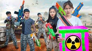 Xgirl Studio: Beautiful Girl Shipping Is Ambushed SEAL X Girl Nerf Guns Three Girls Fight Criminal