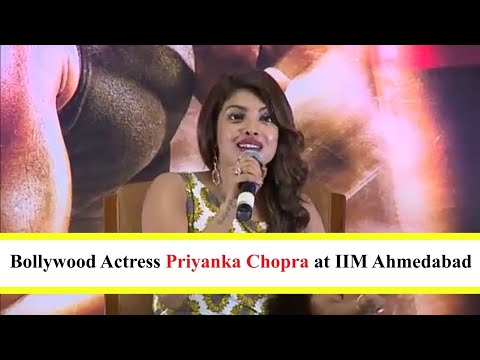 Priyanka Chopra at IIMA