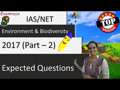 Expected Questions on Environment and Biodiversity Part 2 - UPSC IAS Prelims & Mains / NET 2017