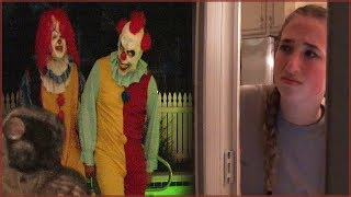 Scary Killer Clown Stalkers Chase Caught on Camera - Creepy Night Walk