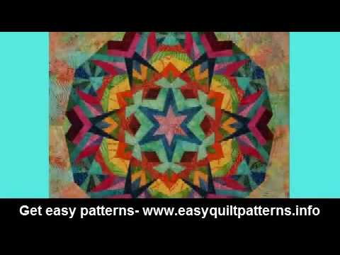 kaleidoscope quilting pattern free fun easy quilting projects
